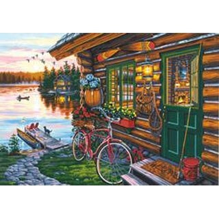 """Cabin View - Paint Works Paint By Number Kit 20""""X14"""""""