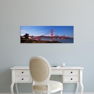 Easy Art Prints Panoramic Images's 'Golden Gate Bridge San Francisco California USA' Premium Canvas Art