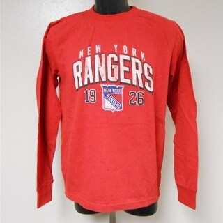 New-Mended- New York Rangers Youth size Medium (M 10/12) Reebok Red Shirt