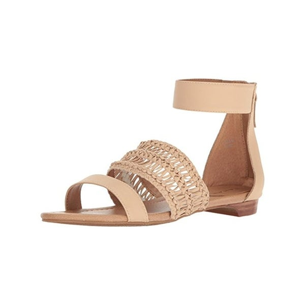 Tahari Womens Dorm Flat Sandals Open Toe Textured