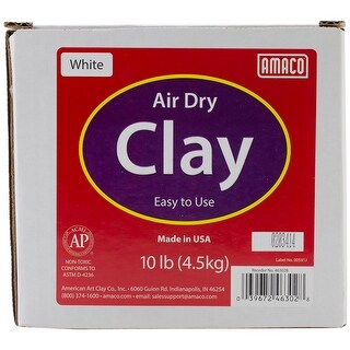 White - Air-Dry Modeling Clay 10Lb