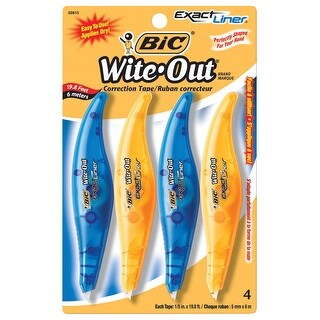 BIC Wite-Out Exact Liner Correction Tape, Pack of 4