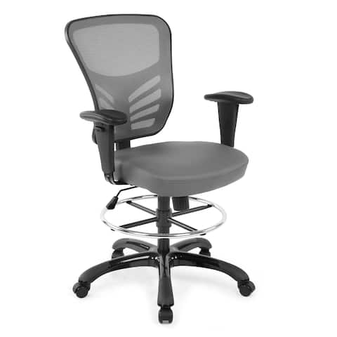 EdgeMod Brighton Drafting Chair with Vegan Leather Seat