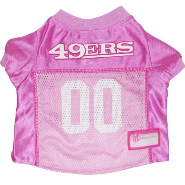 Shop San Francisco 49ers Pink Dog Jersey - Medium - Free Shipping On Orders  Over  45 - Overstock.com - 20727902 fd6be967b