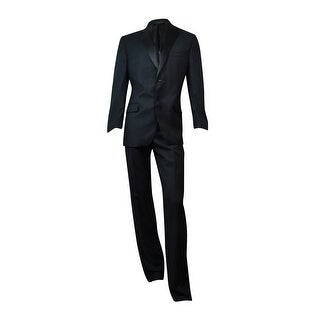 Alfani Men's Solid Two Button Wool Tuxedo (Black, 38R, 32W/32W)