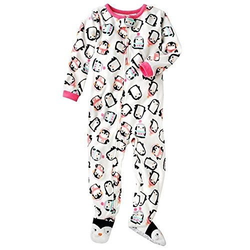 fc6bfc3f8b Shop Carter s Little Girls  Fleece Footed Blanket Sleeper - Penguin ...