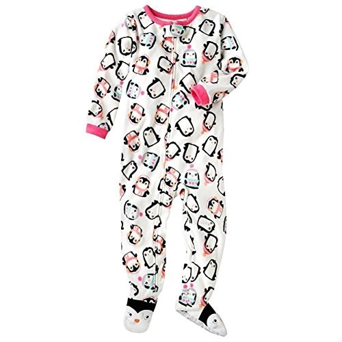 94343b8a4 Shop Carter s Little Girls  Fleece Footed Blanket Sleeper - Penguin ...