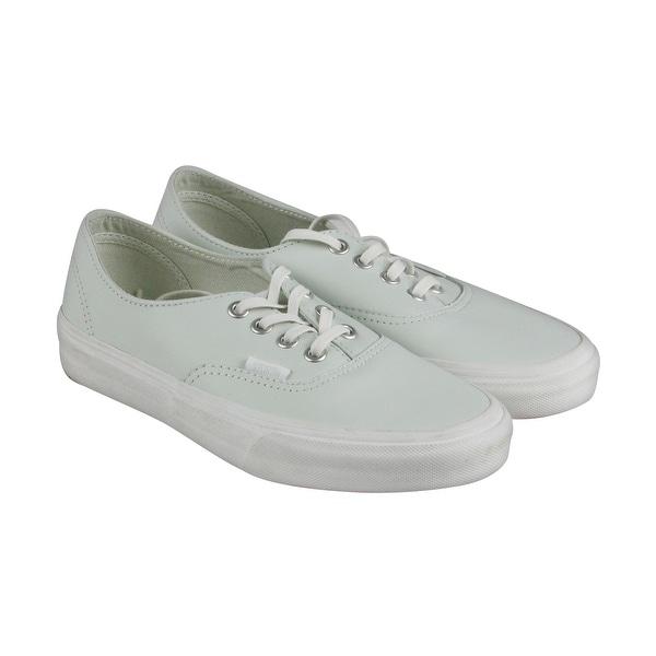 Shop Vans Authentic Decon Mens White Canvas Lace Up Sneakers Shoes