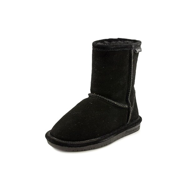 Bearpaw Emma Toddler Youth Round Toe Suede Black Snow Boot