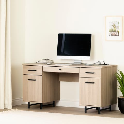 South Shore Zelia Computer Desk with Built In Power Bar