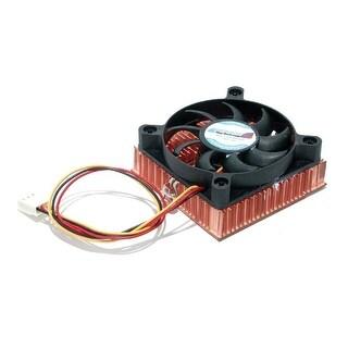 Startech 1U 60X10mm Socket 7/370 Cpu Cooler Fan With Copper Heatsink & Tx3 Fan3701u (Black)