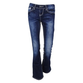 ZCO Juniors' Embellished Barely Slim Bootcut Jeans