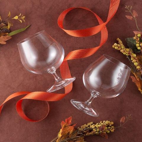 JoyJolt Cask Brandy Glasses 13.5 oz Set of 4 Glasses