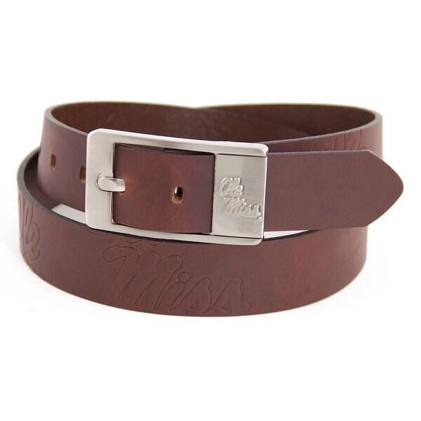University of Mississippi Brandish Leather Belt