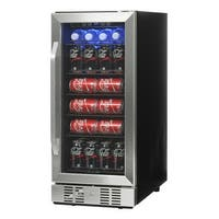 NewAir ABR-960 96 Can Compressor Beverage Cooler - STAINLESS STEEL