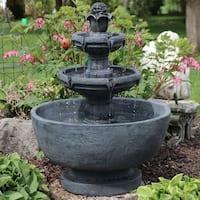 Sunnydaze Budding Fruition 3-Tier Outdoor Garden Patio Water Fountain - 34-Inch
