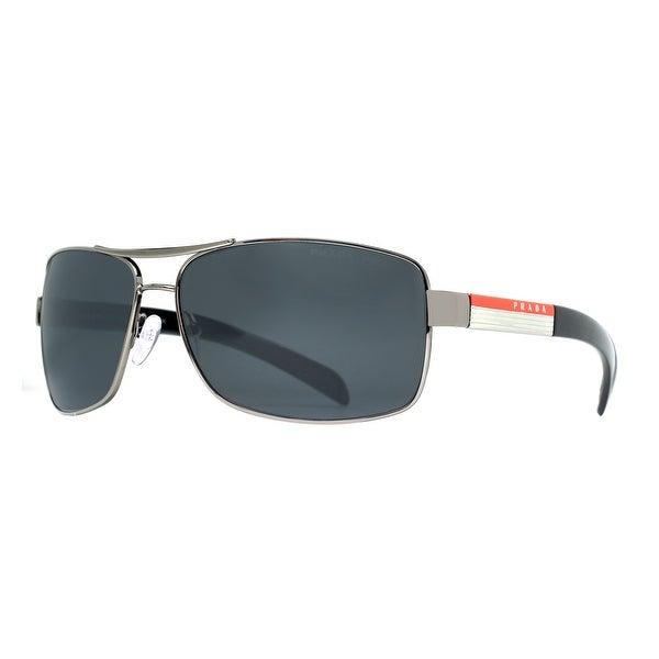 Prada SPS 54I 5AV 5Z1 Linea Rossa Gunmetal Grey Polarized Navigator Sunglasses - 65mm-14mm-125mm