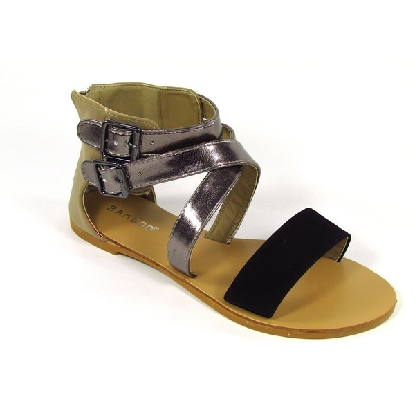 Bamboo Women Morris-63 Strappy Flat Sandals