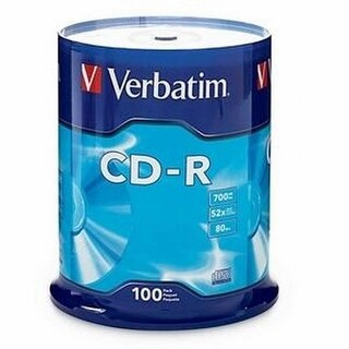 Verbatim E17587M Verbatim 700 MB 52x 80 Minute Branded Recordable Disc CD-R