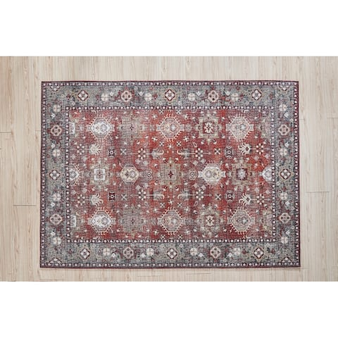Fantasy Collection Red Area Rug