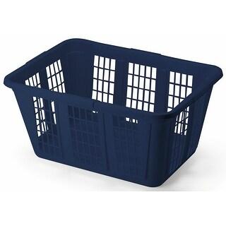 Rubbermaid FG296585ROYBL Blue Mist Laundry Basket, 1.6 Bushels