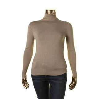 Zara Knit Womens Ribbed Trim Long Sleeves Turtleneck Sweater - XL