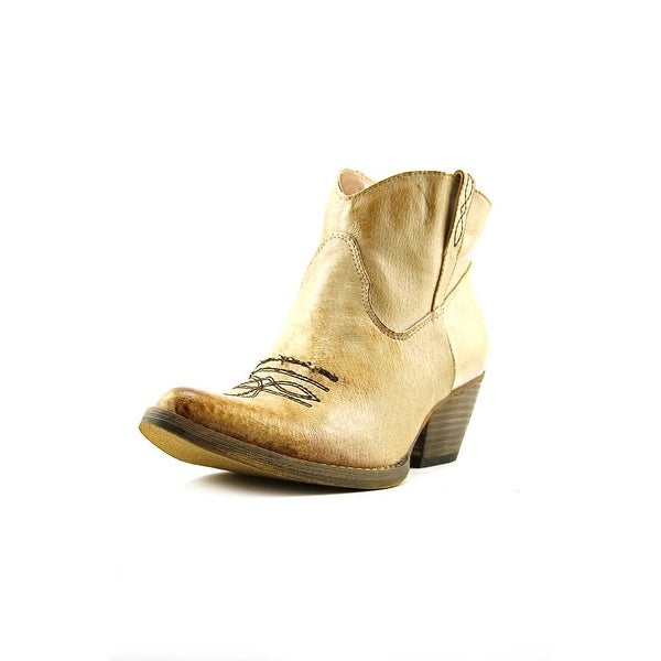Very Volatile Banjo Women Pointed Toe Leather Tan Ankle Boot