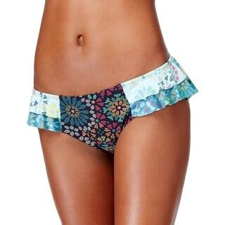 Coco Rave Womens Printed Ruffled Swim Bottom Separates