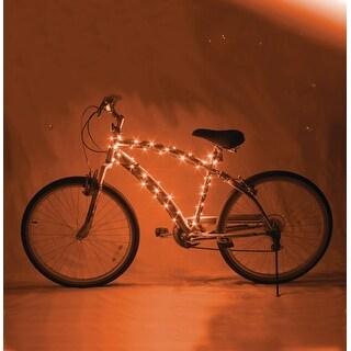 Cosmic Brightz LED Bicycle Light Accessory: Orange - multi