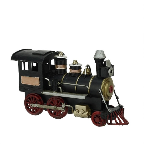 "6.25"" Decorative Black, Gold and Red Classic Steam EngineTrain Christmas Ornament"