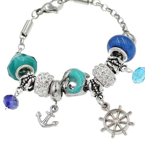 Handmade Nautical Fun Charm Bracelet