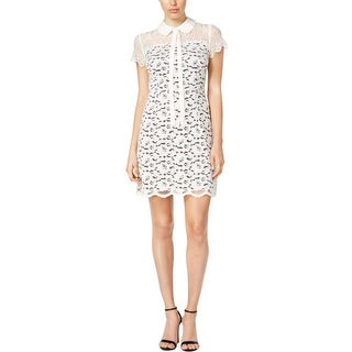 Kensie Womens Cocktail Dress Short Sleeve Lace