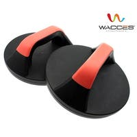 Wacces Push-up Stand Bar Set Workout Exercise - Black Plastic Rotating