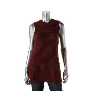 Aqua Womens Knit Sleeveless Tunic Sweater