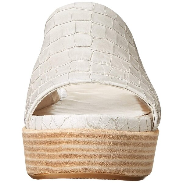 Stuart Weitzman Womens flatout Open Toe Casual Mule Sandals, Beige, Size 9.5
