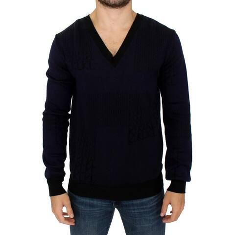Karl Lagerfeld Blue v-neck pullover Men's sweater