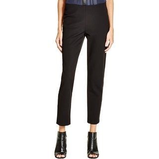 Vince Womens Cropped Pants Elastic Waist Solid
