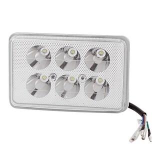 Unique Bargains Unique Bargains Motorbike Silver Tone Metal White 6 LED Ornament Spot Light