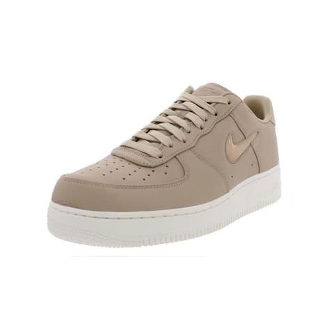 low priced 9fb5b 7531b Nike Mens Air Force 1 Retro Premium Fashion Sneakers Leather Signature