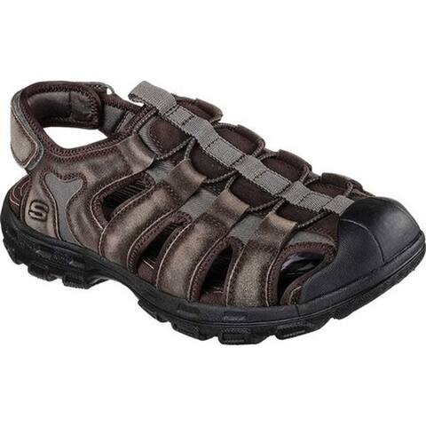 f1015632a Skechers Men s Relaxed Fit Conner Selmo Fisherman Sandal Brown