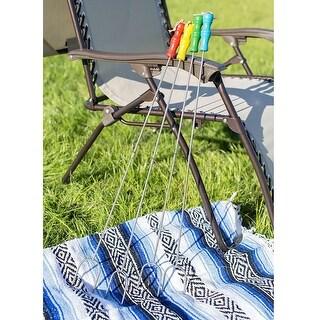 Sunnydaze 4-Piece Long Marshmallow Roasting Skewer Set with Multicolor Handles