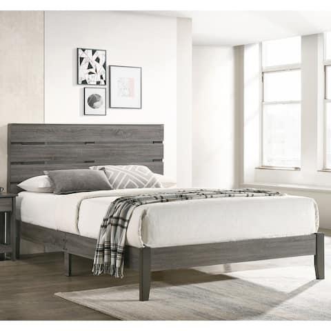 Furniture of America Lucia Rustic Grey Finish Wood Platform Bed