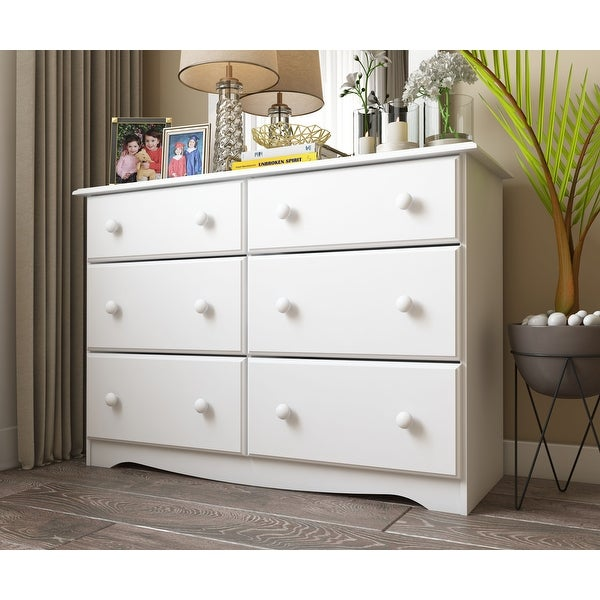 Solid Wood 6-Drawer Double Dresser by Palace Imports. Opens flyout.