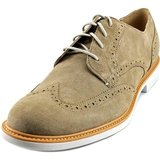 Cole Haan Great Jones Wngtp II Men Wingtip Toe Suede Tan Oxford
