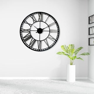 """Link to Walplus Industrial Large Iron Wall Clock 27"""" Decoration Decor Wall Art Similar Items in Decorative Accessories"""