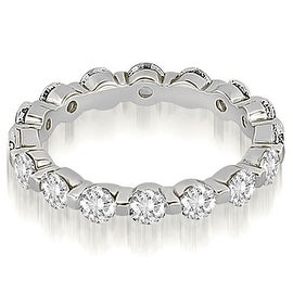 1.70 cttw. 14K White Gold Round Diamond Eternity Ring
