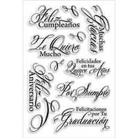 """Spanish Greetings - Stampendous Perfectly Clear Stamps 4""""X6"""" Sheet"""