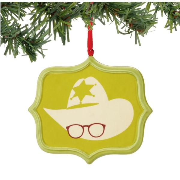 """Department 56 A Christmas Story """"Air Rifle Sentiment"""" Christmas Ornament #4044993 - green"""