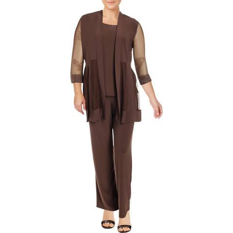 R&M Richards Womens Pant Suit Embellished 2PC - 14