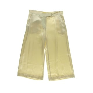 Catherine Malandrino Womens Satin Crop Dress Pants
